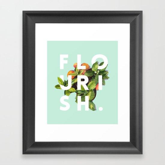 flourish society6 buyart typography artprint framed art print by 83 oranges society6