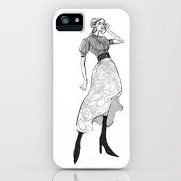 Street Fashion Illustration iPhone Case