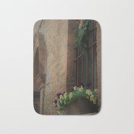 Christmas Window Ferrara Italy Bath Mat