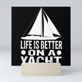 Sailing Yacht Skipper Regatta Sailing Ship Sailing Mini Art Print