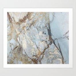 Marble swirls Art Print