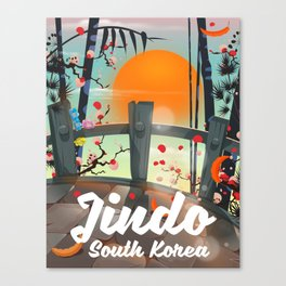 Jindo South korea travel poster. Canvas Print