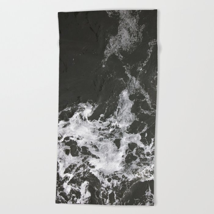 Black Water + Marble #society6 #decor #buyart Beach Towel
