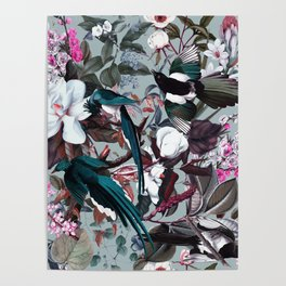 Floral and Birds XXIV Poster