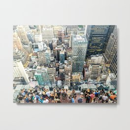 Lookout New York Metal Print