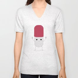 Happy Pill! Unisex V-Neck