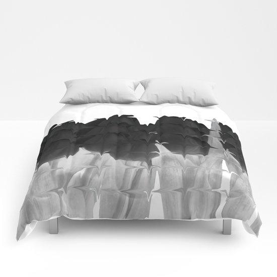 Black tulips Comforters