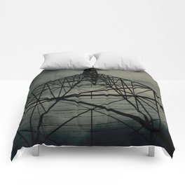 Power Lines Comforters