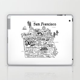 San Francisco Map Illustration Laptop & iPad Skin