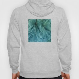 Tropical Jungle Palm Leaves in Green Hoody