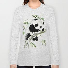 Baby Panda, Panda Bear Design, Asian ink Art Long Sleeve T-shirt