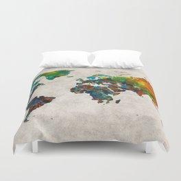 World Map 61 Duvet Cover