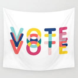 Modern Vote Wall Tapestry