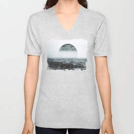 Staring at your ghost Unisex V-Neck