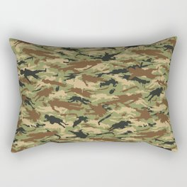Body Camo Rectangular Pillow