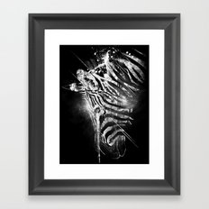 Zebra Mood - White Framed Art Print