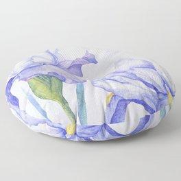 Watercolor Iris Floor Pillow