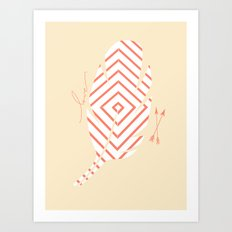 Stripped Feather Art Print