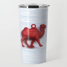 Genetically challenged camel trying to cross the blue mirage Travel Mug