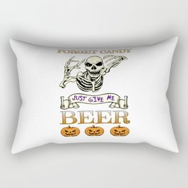 Halloween Costume Forget Candy Just Give Me Beer Gift Rectangular Pillow