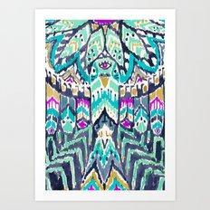 Parrot Tribe Art Print