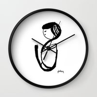 grateful dead Wall Clocks featuring Grateful by phimola