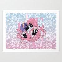 utena Art Prints featuring Utena la filette revolutionnaire by Neo Crystal Tokyo