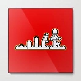 Lego Evolution  Metal Print
