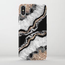 Yin Yang Agate Glitter Glam #8 #gem #decor #art #society6 iPhone Case
