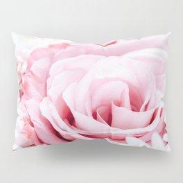 Pink Roses and Gerbera Daisy Flowers Wedding Bouquet, Love Photo, Romantic Celebration, Wall Art Pillow Sham