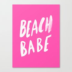 Beach Babe x Flamingo Pink Canvas Print