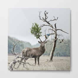 Mystical Deer Metal Print