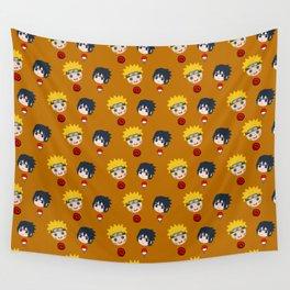Funny Naruto and Sasuke Face Wall Tapestry