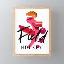 Field Hockey Girl Fashion Outfit Framed Mini Art Print
