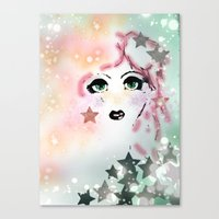 jem Canvas Prints featuring Jem by Care Thomas