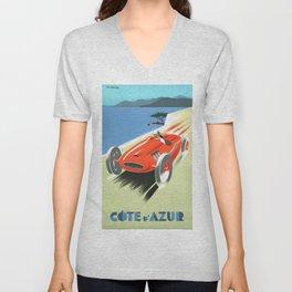 Cote d'Azur Speeder Unisex V-Neck