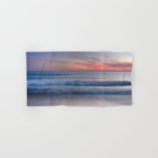 """Magical waves at sunset"" Hand & Bath Towel"