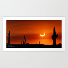 Partial Annular Eclipse from Cave Creek Arizona Art Print