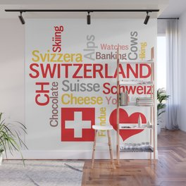 My Favorite Swiss Things Wall Mural