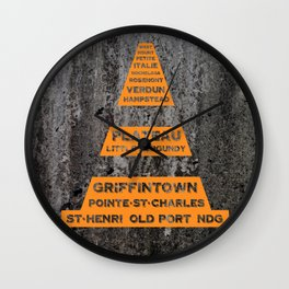 Montreal Traffic Cone Wall Clock
