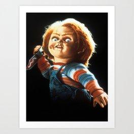 Childs play-chucky Art Print