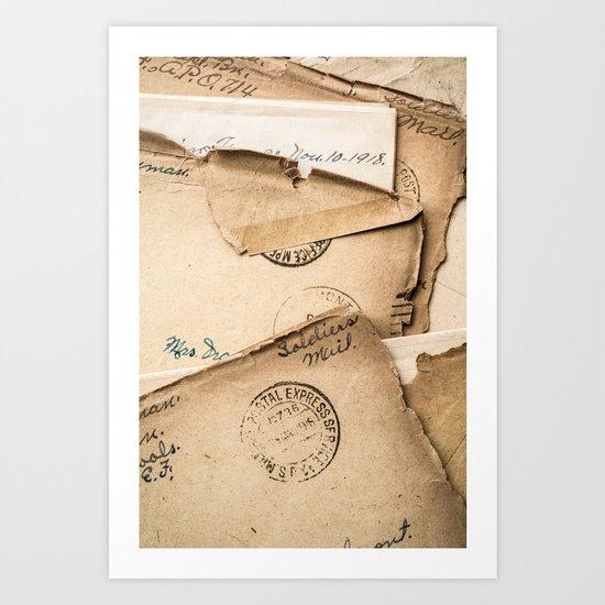 Soldier's Mail Art Print