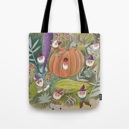 Heavy Lifting Garden Gnomes Tote Bag