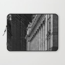 View of Broadway and National Archives at New York City Laptop Sleeve