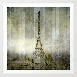 Digital-Art PARIS Eiffel Tower | Geometric Mix No.1 Art Print