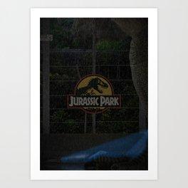 'Jurassic Park' film poster Art Print