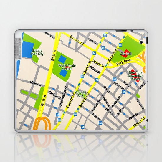 NEW YORK map design Laptop & iPad Skin