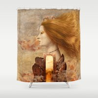 fez Shower Curtains featuring Persephone by Diogo Verissimo