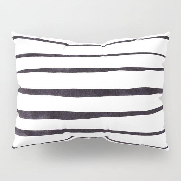 Black Ink Linear Experiment Pillow Sham