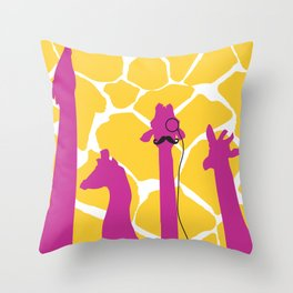 dignified giraffe. Throw Pillow